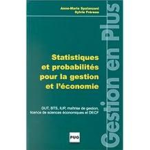 Statistiques et probabilités pour la gestion et l'économie