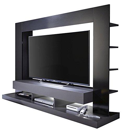 Trendteam Wohnzimmer Anbauwand, Holzwerkstoff, Grau, 170 x 124 x 46 cm
