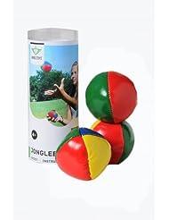 3 PELOTAS de MALABARES multicolor fabricadas con lycra y 6 cms diámetro Juego de Malabarismo +7 años