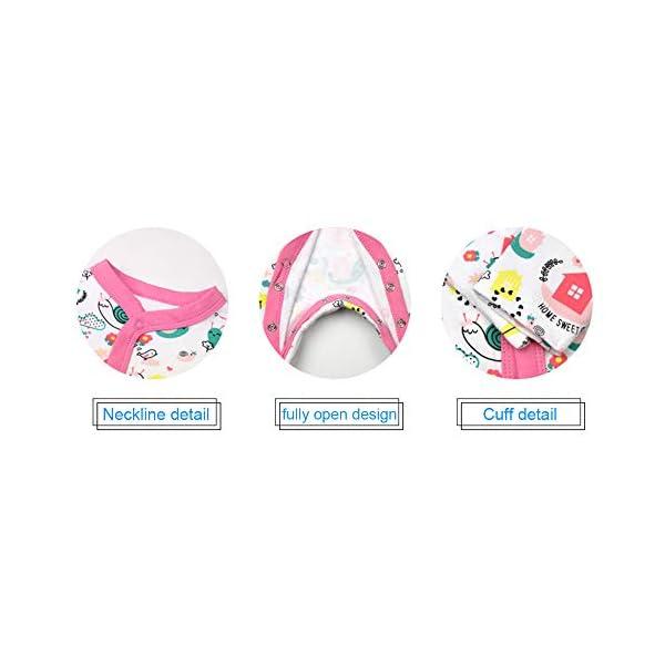 ZEVONDA Body para Bebés Niños y Niñas de 100% Algodón - Manga Corta/Manga Larga/Mameluco Pijamas para Recién Nacido 0-18… 2