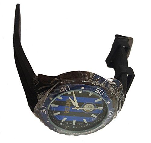 Uhr Offizielle FC Inter Typ Sport Lautsprecher in Alloy Behandlung PVD, Armband aus Silikon. p-in405un1