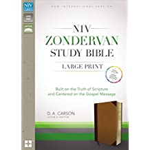 NIV Zondervan Study Bible, Large Print, Imitation Leather, Brown/Tan, Indexed: Built on the Truth of Scripture and Centered on the Gospel Message