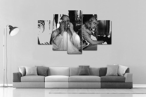 wall-poster-of-5-part-vertical-canvas-with-mylane-demongeot-and-louis-de-funas-on-set-of-fantamas