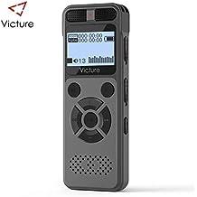 Victure Digitales Diktiergerät, 8GB 1536 kbps Tonaufnahmegerät,MP3-Player,A-B Wiederholfunktion,Direktaufnahme,One-Touch-Aufnahme, Aufnahmegerät für Vorlesung, Meeting, Interview, Unterricht.