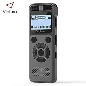 grabadoras de voz: Victure Grabadora de Voz Digital Portátil, 8GB 1536kbps HD Grabador de Sonido co...