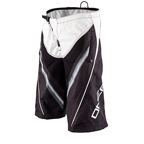 O'Neal Element FR Short MTB DH MX Schwarz Weiß Mountainbike Freeride MTB Donwhill Fahrrad Hose, 0192S-8, Größe 30/46 (Element-shorts Weiß)