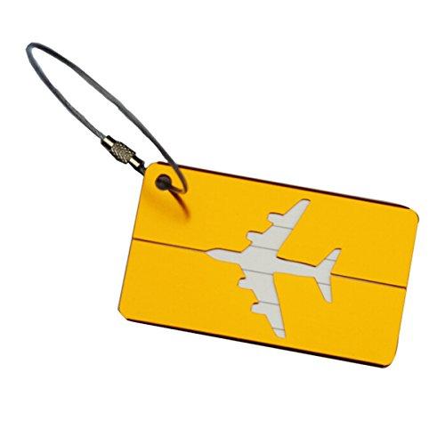 er mit Namensschild Gepäckanhänger aus Metall - Golden (Kofferanhänger Gelb)