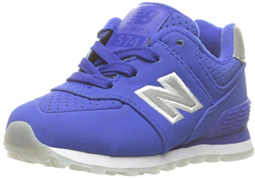 New Balance Youth 574 Luxe Rep Nubuck Trainers Bleu Gris