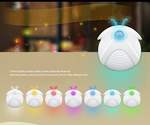 Energie Sparen 4 Licht (Flying Rabbit Bewegungssensor Licht, USB Wiederaufladbar LED Nachtlicht, DIY Haus Licht Energie Sparen, Wandleuchte für Kinderzimmer, Flur, Badezimmer, Treppen (USB charge-1 pc))