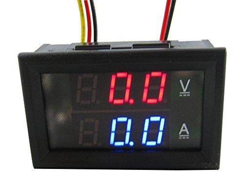 Yeeco DC0-300V 200A Digital DC Spannung Strom-Monitor Voltmeter Amperemeter Testing Messer Volt Amp Tester Multimeter mit 2-Farben-LED-Anzeige Dual (1/0 Gauge Amp)