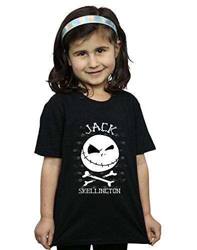 tmare Before Christmas Jack Face T-Shirt Schwarz 5-6 years (Fit Für Einen König Waren)