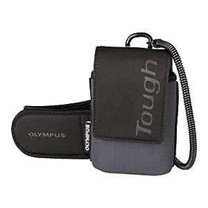 Olympus Tough Etui multi-fonction en néoprène + nylon avec attache-ceinture + mousqueton + brassard + dragonne pour TG-1, TG830, TG-820, TG-620