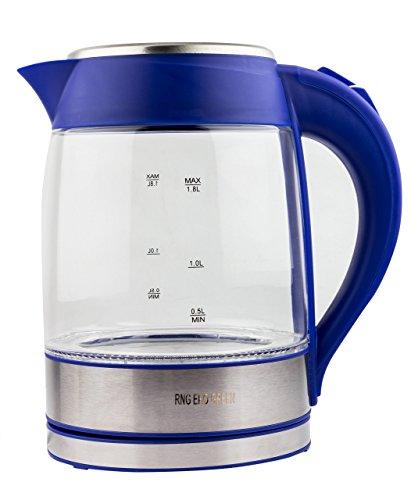 RNG EKO GREEN 1.8-Litre 2200-W Electric LED Glass Kettle-Blue