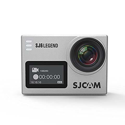 SJCAM SJ6 LEGEND Action Camera 4K Wifi Gyro Sports Cam 2.0 Inch Touch Screen 4K 24FPS Novatek NT96660 Panasonic MN34120PA 16MP Outdoor Underwater Camcorder Waterproof Digital Camera Silver
