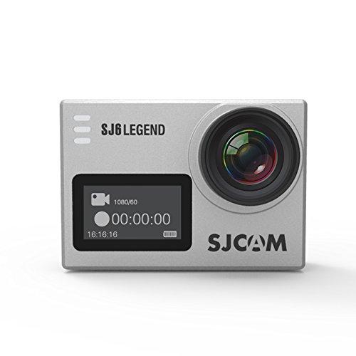 SJCAM SJ6 LEGEND Action Camera Gyro 4K Wifi Sports Camera 2.0 Inch Touch Screen 4K 24FPS Novatek NT96660 Panasonic MN34120PA 16MP Outdoor Underwater Camcorder Waterproof Digital Camera Silver