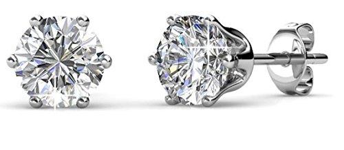 regno unito miglior sito web andare online punto luce orecchini donna diamante brillante argento