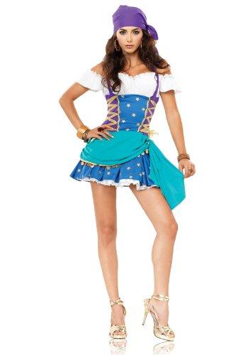 Leg Avenue Gypsy Princess Kostüm 2-teilig , 1 Stück (Zigeuner Kostüm Kopftuch)