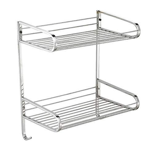 2-Tier-Badezimmer-Sack, Bad Countertop Storage Organizer Jars Bottle Rack Shelf Holder Space Saving, Mesh Wire-Stainless Steel (Badezimmer Storage Jars)