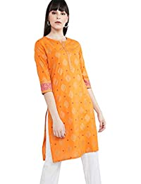 Max Women's Cotton a-line Kurta