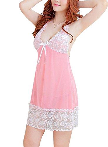 E-Girl charmante princesse Nuisettes Ensemble, Lingerie Sexy, rose Rose