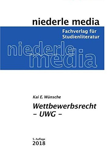 Wettbewerbsrecht - UWG - 2019