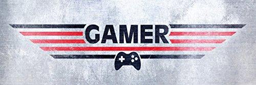 1art1 92570 Gaming - Gamer Poster Leinwandbild Auf Keilrahmen 90 x 30 cm Videospiel-leinwand