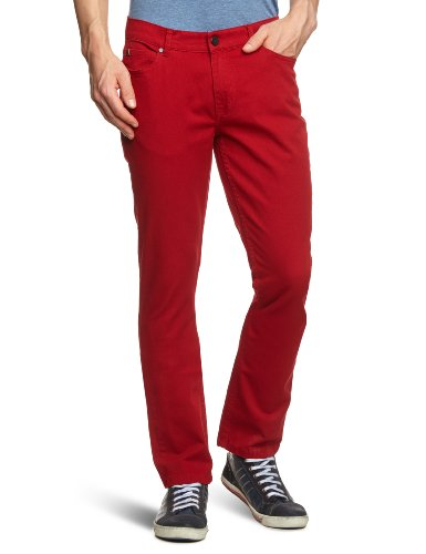 Fallen Herren Pants Winslow Twill Hosen, Washed red, 33/32 - Dc Herren Jeans
