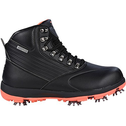 Stuburt 2017 Ladies Waterproof Endurance Golf Shoes Winter Boots Black/Coral 5UK