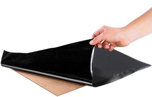 Preisvergleich Produktbild infactory 1m² Vinyl-Tafelfolie schwarz 200 x 40 cm inkl. Kreide-Set