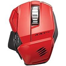 Mad Catz R.A.T.M Wireless Mobile Gaming Maus für PC, Mac und mobile Endgeräte - Rot