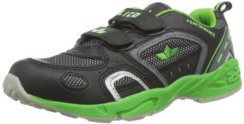Lico  Sneaker V, Chaussures de sport d'intérieur garçon Black (Schwarz/Grün)