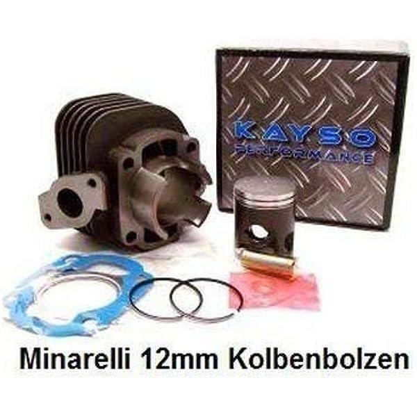 50ccm Zylinder Zylinderkit Ac Minarelli Bolzen 12mm Für Cpi Keeway Atu Roller 2 Takt Auto
