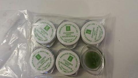 Eminence Cucumber Mint Sugar Scrub Sample Set of Six Travel Size 100% Fresh Organic by Eminence Organic Skin Care