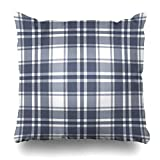 WBinHua Zierkissenbezüge, Square Throw Pillow case, Tartan Check Plaid Pattern Abstract Country Casual Checkered Classic Color Pillowcase Square Size 18 x 18 Inches Home Decor Cushion Cases