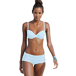 NiSeng Donna Bikini Due Pezzi Costume da Bagno Colore Puro Costumi da Bagno Bikini Beachwear