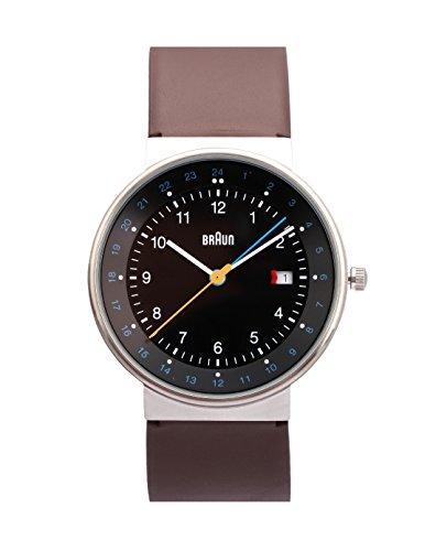 Braun BN0142BKBRG - Reloj de cuarzo unisex, correa de cuero color marrón