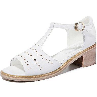 LvYuan Sandali-Formale Casual Serata e festa-Altro-Quadrato-Finta pelle-Rosa Bianco White
