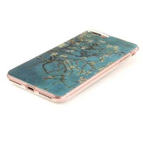Coque étui Pour Apple iPhone 7 Plus 5.5 pouce Fine Slim Case Poids léger Flexible TPU Gel Anti Choc Peinture Motif Formule Mathématique Noir Couleur-14