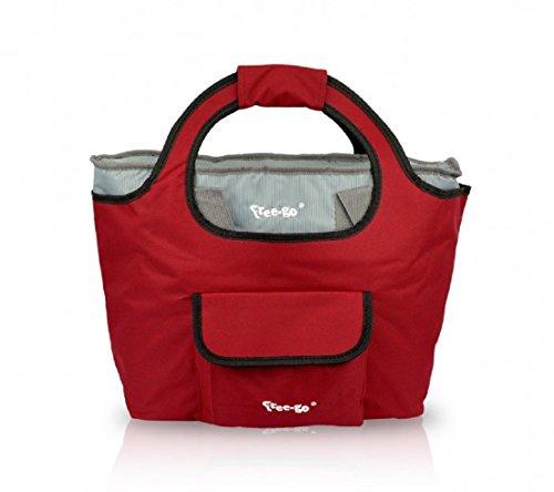 Borsa Mare piu Borsa Termica FREE-GO 2 IN 1 Shopper Moda Mare Summer Rosso