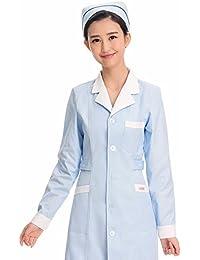 Xuanku Manga Larga Azul Enfermera De Invierno Servicio De Belleza Farmacia Ropa De Trabajo