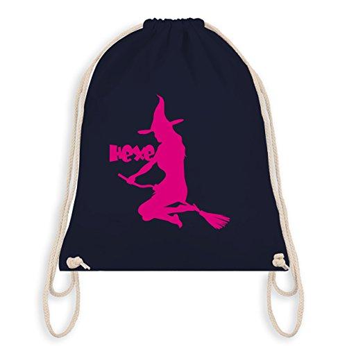 (Halloween - Hexe auf dem Besen - Unisize - Navy Blau - WM110 - Turnbeutel & Gym Bag)