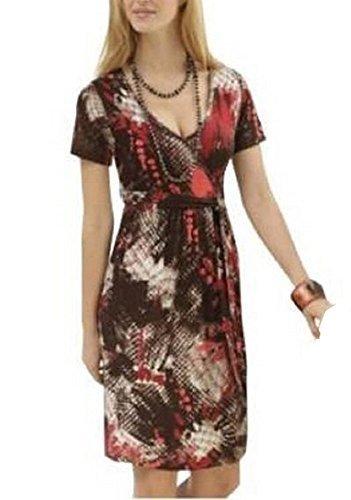 Shirtkleid Kleid von Cheer - Farbe Braun Rot Braun/Rot