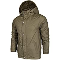 ZZHH Campaign Windbreaker Waterproof Breathable Casual Men's Jackets . army green . (Mens Completo Giacca In Nylon)