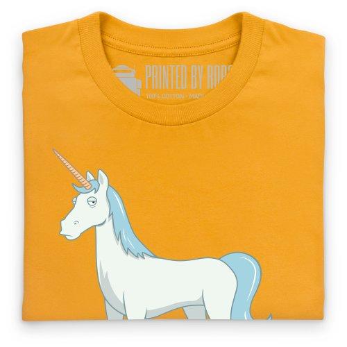 Unicorn Poop T-Shirt, Herren Gelb