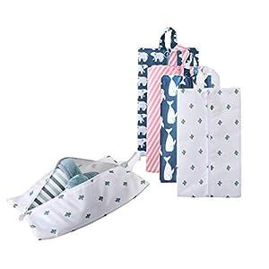 Portátil Bolsas de Zapatos de Viaje Multifuncional Oxford Zapatos Almacenamiento y organización con Cierre de Cremallera (5 Pack)