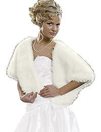 Elegant stole in fur look (E3)