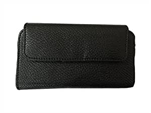 Zocardo Hard Leather Belt Pouch for Lava Pixel V2 - Black