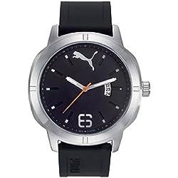 Puma Time PU104261004 - Montre Quartz - Affichage Analogique Classique - Bracelet Plastique Noir et Cadran Noir - Homme