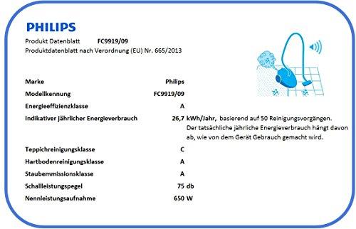 Philips fC9919/09 ultimate aspirateur traîneau power pro, filtre hEPa 13, buse a-hartbodendüse triAktiv max énergétique a rouge