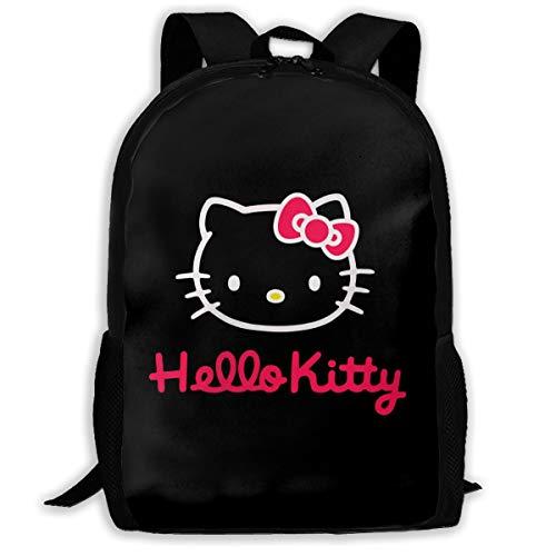 Mochila de Tela Oxford con diseño de Hello Kitty, Color Negro y...